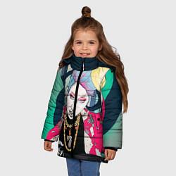 Куртка зимняя для девочки Block B Girl цвета 3D-черный — фото 2