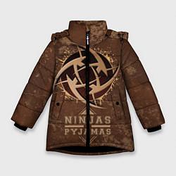 Куртка зимняя для девочки Ninjas In Pyjamas цвета 3D-черный — фото 1