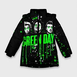 Куртка зимняя для девочки Green Day: Acid Colour цвета 3D-черный — фото 1