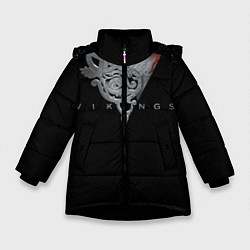 Куртка зимняя для девочки Vikings Emblem цвета 3D-черный — фото 1