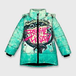 Детская зимняя куртка для девочки с принтом BMTH: Sempiternal, цвет: 3D-черный, артикул: 10073643506065 — фото 1