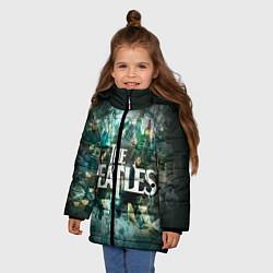 Куртка зимняя для девочки The Beatles Stories цвета 3D-черный — фото 2