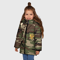 Куртка зимняя для девочки Униформа дембеля цвета 3D-черный — фото 2