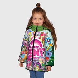 Детская зимняя куртка для девочки с принтом My Little Pony, цвет: 3D-черный, артикул: 10075445006065 — фото 2