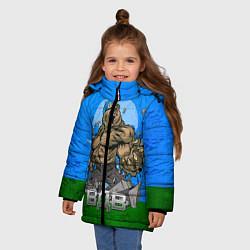 Детская зимняя куртка для девочки с принтом ВДВ, цвет: 3D-черный, артикул: 10077774806065 — фото 2