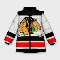 Куртка зимняя для девочки Chicago Blackhawks цвета 3D-черный — фото 1