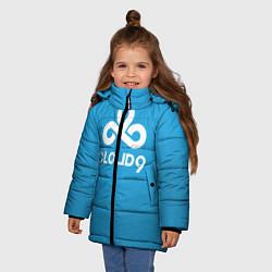Куртка зимняя для девочки Cloud 9 цвета 3D-черный — фото 2