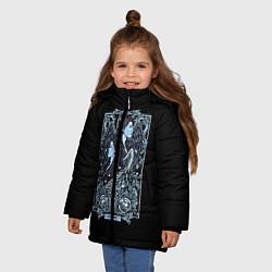 Куртка зимняя для девочки Близнецы цвета 3D-черный — фото 2