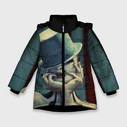 Куртка зимняя для девочки American horror girl цвета 3D-черный — фото 1