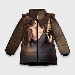 Куртка зимняя для девочки Бенедикт Камбербэтч 1 цвета 3D-черный — фото 1