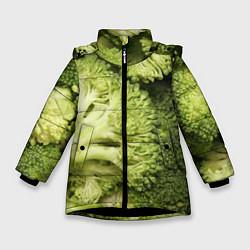 Куртка зимняя для девочки Брокколи цвета 3D-черный — фото 1