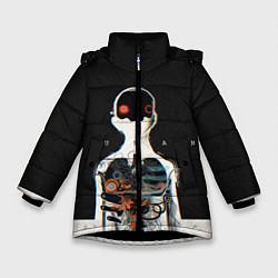 Куртка зимняя для девочки Three Days Grace: Skeleton цвета 3D-черный — фото 1