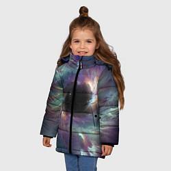 Куртка зимняя для девочки Star light space цвета 3D-черный — фото 2