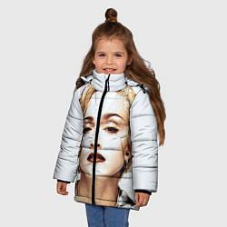 Куртка зимняя для девочки Мадонна цвета 3D-черный — фото 2