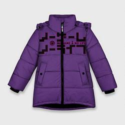 Куртка зимняя для девочки No game no life Sora цвета 3D-черный — фото 1