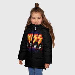 Куртка зимняя для девочки KISS: Death Faces цвета 3D-черный — фото 2