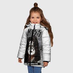 Куртка зимняя для девочки KISS: Adult spaceman wig цвета 3D-черный — фото 2