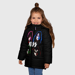 Куртка зимняя для девочки KISS: Acid Colours цвета 3D-черный — фото 2
