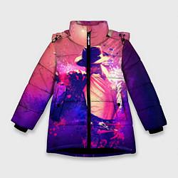 Куртка зимняя для девочки Michael Jackson: Moon цвета 3D-черный — фото 1