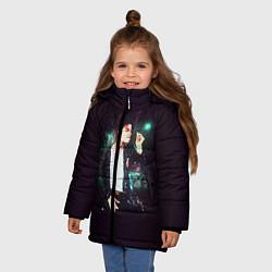 Куртка зимняя для девочки Michael Jackson цвета 3D-черный — фото 2