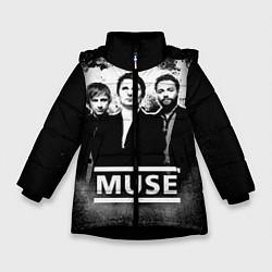 Куртка зимняя для девочки Muse цвета 3D-черный — фото 1