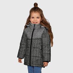 Куртка зимняя для девочки Кольчуга цвета 3D-черный — фото 2