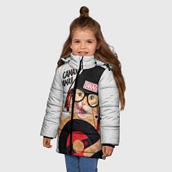 Куртка зимняя для девочки Самая Самая цвета 3D-черный — фото 2