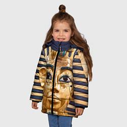 Куртка зимняя для девочки Фараон цвета 3D-черный — фото 2