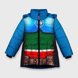 Куртка зимняя для девочки Капитан Татарстан цвета 3D-черный — фото 1