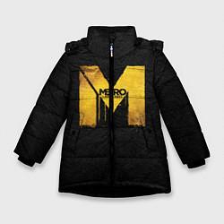 Детская зимняя куртка для девочки с принтом Metro: Last Light, цвет: 3D-черный, артикул: 10088873906065 — фото 1