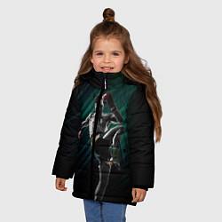 Куртка зимняя для девочки Muay thai kick цвета 3D-черный — фото 2