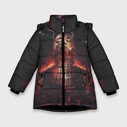 Куртка зимняя для девочки Oxxxymiron: Горгород цвета 3D-черный — фото 1