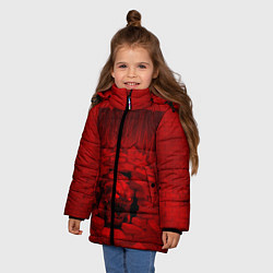 Куртка зимняя для девочки DOOM: Monster цвета 3D-черный — фото 2