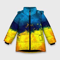 Куртка зимняя для девочки Украина цвета 3D-черный — фото 1