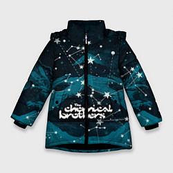 Куртка зимняя для девочки Chemical Brothers: Space цвета 3D-черный — фото 1