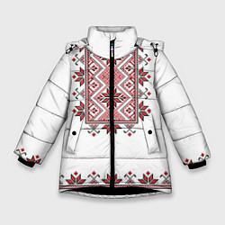 Куртка зимняя для девочки Вышивка 41 цвета 3D-черный — фото 1