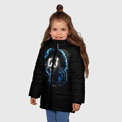 Детская зимняя куртка для девочки с принтом DJ, цвет: 3D-черный, артикул: 10095740606065 — фото 2