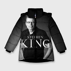 Куртка зимняя для девочки Стивен Кинг цвета 3D-черный — фото 1