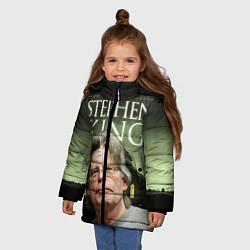 Детская зимняя куртка для девочки с принтом Bestselling Author, цвет: 3D-черный, артикул: 10095786806065 — фото 2