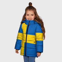 Куртка зимняя для девочки Швеция цвета 3D-черный — фото 2