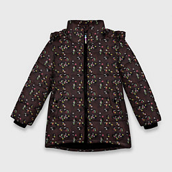 Детская зимняя куртка для девочки с принтом Унесённые призраками, цвет: 3D-черный, артикул: 10096214906065 — фото 1
