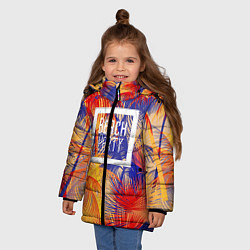 Куртка зимняя для девочки Beach Party цвета 3D-черный — фото 2