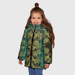 Куртка зимняя для девочки Крокодил - фото 2