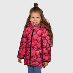 Куртка зимняя для девочки Малинки цвета 3D-черный — фото 2
