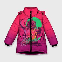 Куртка зимняя для девочки Show some respect цвета 3D-черный — фото 1