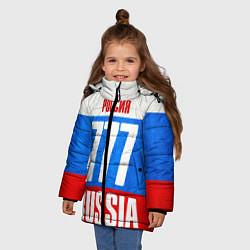 Куртка зимняя для девочки Russia: from 777 цвета 3D-черный — фото 2