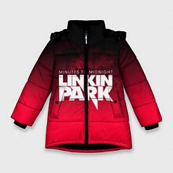 Куртка зимняя для девочки Linkin Park: Minutes to midnight цвета 3D-черный — фото 1