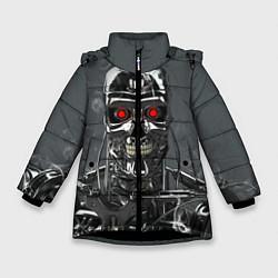 Зимняя куртка для девочки Скелет Терминатора