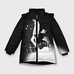 Куртка зимняя для девочки Тетрадь смерти 7 цвета 3D-черный — фото 1