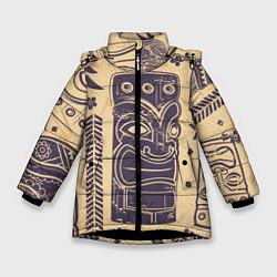 Куртка зимняя для девочки Африка цвета 3D-черный — фото 1